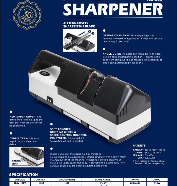 KE500 electric knife sharpener